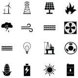 Energy icon set. The energy of icon set Royalty Free Stock Photo