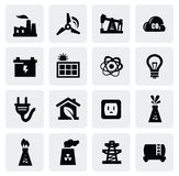 Energy icon set Royalty Free Stock Images