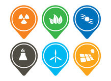 Energy icon set. Abstract modern pictorgram for your design Royalty Free Stock Photos