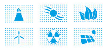 Energy icon set. Abstract modern icon set for your design Royalty Free Stock Photo