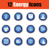 Energy icon set. Royalty Free Stock Images