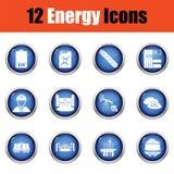 Energy icon set. Royalty Free Stock Photo