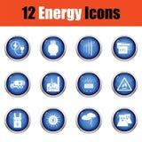 Energy icon set. Royalty Free Stock Photography
