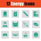 Energy icon set Stock Photo