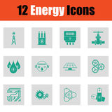 Energy icon set Stock Image