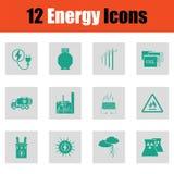 Energy icon set Royalty Free Stock Photo