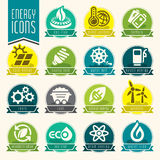 Energy icon set. Stock Images