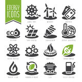 Energy icon set. Royalty Free Stock Photo