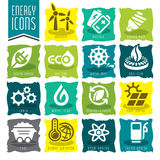 Energy icon set. Stock Photos