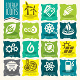 Energy icon set. Royalty Free Stock Photos