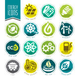 Energy icon set. Royalty Free Stock Image