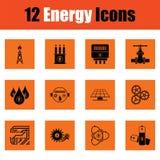 Energy icon set Royalty Free Stock Images