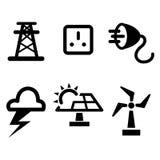 Energy icon set. Vector Royalty Free Stock Photos