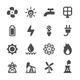 Energy icon set, vector eps10 Royalty Free Stock Image