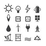 Energy icon set on white background. Energy icon set on white background, flat design vector illlustion eps10 Royalty Free Stock Photo