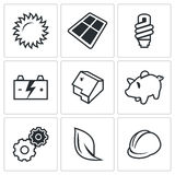 Energy icon. Vector Illustration. Royalty Free Stock Photography