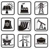 Energy icons Stock Photos