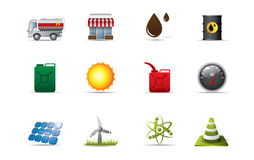 Energy icons Stock Image