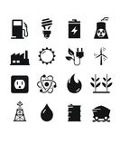 Energy Icons - Black Royalty Free Stock Photos