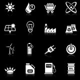Energy icons - black series Royalty Free Stock Photos