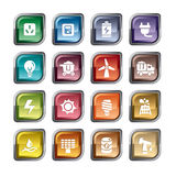 Energy Icons. A collection of different kinds of energy icons. It contains hi-res JPG, PDF and Illustrator 9 files Stock Photos