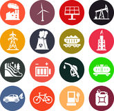 Energy icons in color Stock Photo