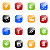 Energy icons - color series Stock Photo