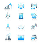 Energy icons || MARINE series Royalty Free Stock Image