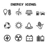 Energy icons. Mono vector symbols Royalty Free Stock Photos