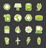 Energy icons. Over black background vector illustration Stock Images