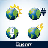 Energy icons Royalty Free Stock Images