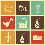 Energy icons. Over cream background  illustration Royalty Free Stock Images