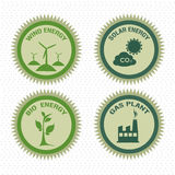 Energy icons. Over dotted background vector illustration royalty free illustration
