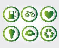 Energy icons Royalty Free Stock Image