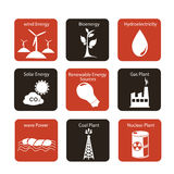 Energy icons. Over white background vector illustration Royalty Free Illustration