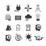 Energy icons. Set of 16 energy icons royalty free illustration
