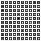 100 energy icons set black. 100 energy icons set in black color isolated vector illustration Stock Images
