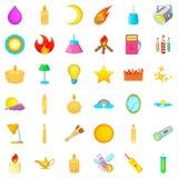 Energy icons set, cartoon style. Energy icons set. Cartoon style of 36 energy vector icons for web isolated on white background Stock Photography