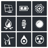 Energy icons set Stock Photo