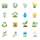 Energy icons set. This image is a vector illustration.Energy icons set Royalty Free Stock Images