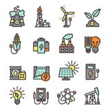 Energy Icons Set Royalty Free Stock Photos