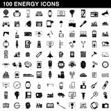 100 energy icons set, simple style. 100 energy icons set in simple style for any design illustration royalty free illustration
