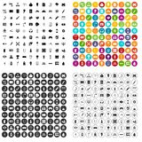 100 energy icons set variant. 100 energy icons set in 4 variant for any web design isolated on white Stock Illustration