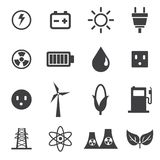 Energy Icons Set, vector illustion flat design style. Energy Icons Set on white background, vector illustion flat design style Royalty Free Illustration