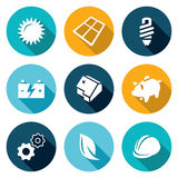 Energy Icons Set. Vector Illustration Royalty Free Stock Photo