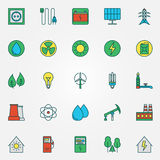 Energy icons set Royalty Free Stock Images