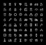 Energy icons set Stock Image