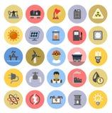 Energy icons Stock Image