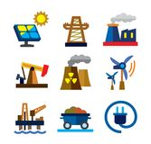 Energy icons Stock Images