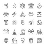 Energy Icons - Vector Line Series royalty free illustration